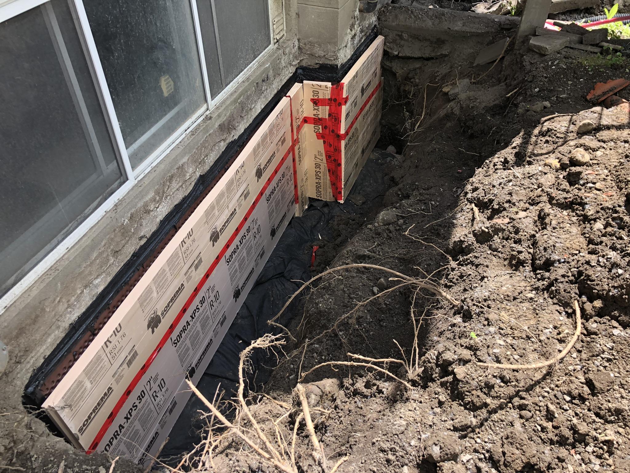 installation d'un drain français